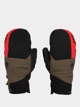 Volcom Stay Dry Gore Tex Mitt Gloves (red)