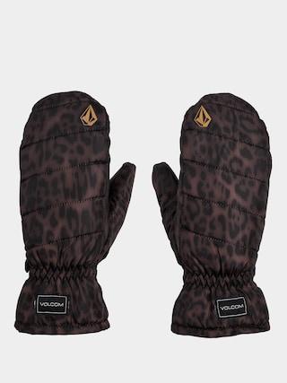 Volcom Puff Puff Mitt Gloves Wmn (leopard)