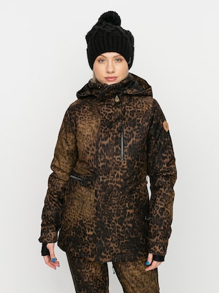 Volcom Shelter 3D Stretch Snowboard jacket Wmn (leopard)