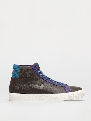 Nike SB Zoom Blazer Mid Premium Shoes (baroque brown/white green abyss)