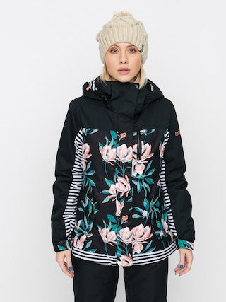 Roxy Jetty Block Snowboard jacket Wmn (true black tropical day)