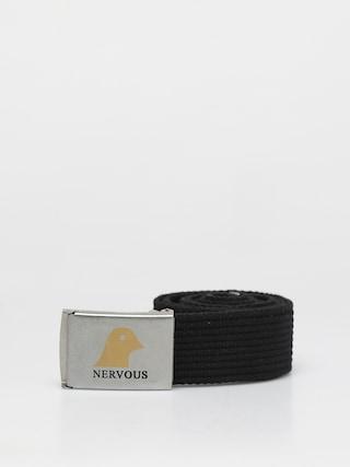 Nervous Gold Head Belt (silver/black)