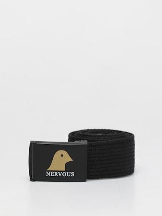 Nervous Gold Head Belt (black/black)