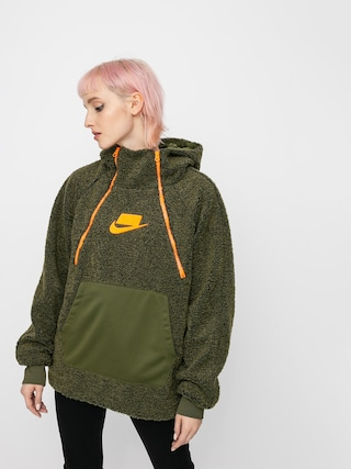 Nike Sherpa HD Hoodie Wmn (olive canvas/olive canvas/cone/cone)