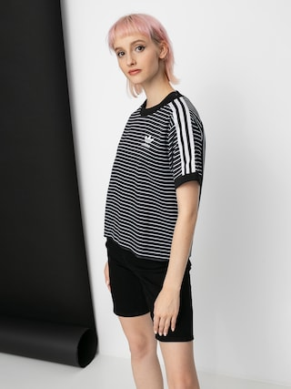 adidas Originals 3 Stripes T-shirt Wmn (black/white)