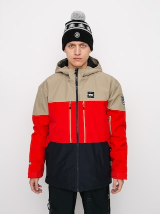 Picture Object Snowboard jacket (red dark blue)