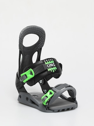 Drake King Smu Snowboard bindings (neon green/black)