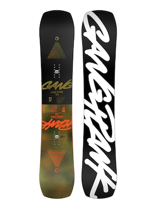 Rome Gang Plank Snowboard (black/white)