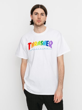 Thrasher Rainbow Mag T-shirt (white)