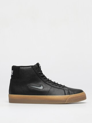 Nike SB Zoom Blazer Mid Premium Shoes (black/white black gum light brown)