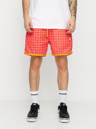Diamond Supply Co. Checkered Cross Shorts (coral)