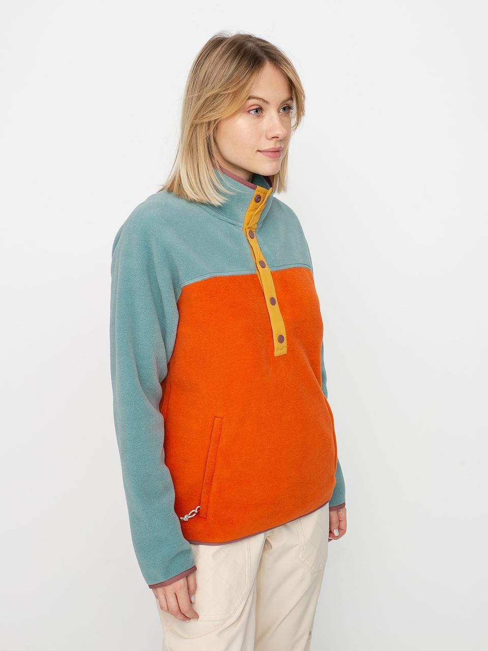 Trellis//Burnt Ochre L Burton Womens Hearth Tech Fleece