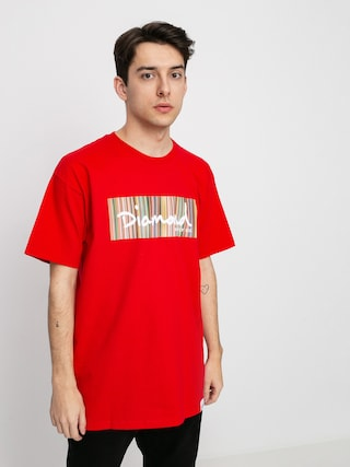 Diamond Supply Co. Color Ply Box Logo T-shirt (red)