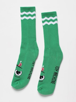 Toy Machine Monster Big Stripe Socks (green)