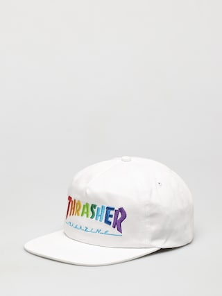 Thrasher Rainbow Mag Snapback ZD Cap (white)