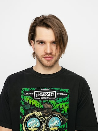 Brixton Brooklyn Brxtn Broadcast S T-shirt (black garment dye)