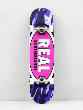 Real Oval Camo Skateboard (pink)