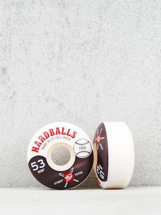 Mob Skateboards Hardballs Wheels (white/black)