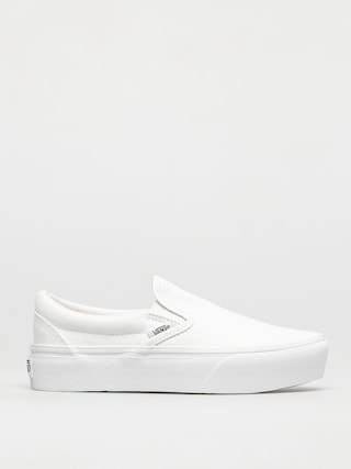Vans Classic Slip On Platform Shoes (true white)