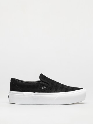 Vans Classic Slip On Platform Shoes (deboss otw black/black)