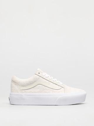 Vans Old Skool Platform Shoes (deboss otw marshmallow/marshmallow)