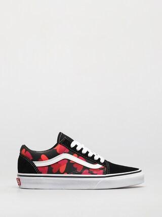 Vans Old Skool Shoes (valentines hearts black/fuchsia purple)