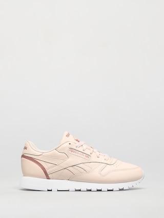 Reebok Cl Lthr Shoes Wmn (cerpnk/blusmt/ftwwht)