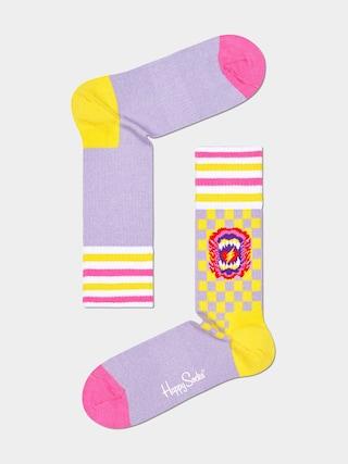 Happy Socks Roar Thin Socks (pink)