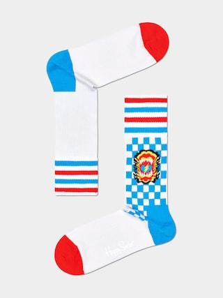 Happy Socks Roar Thin Socks (white)