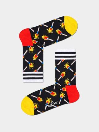 Happy Socks Matches 3/4 Socks (black)