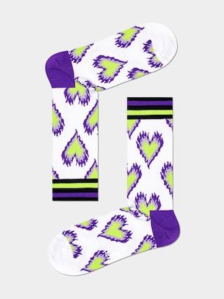 Happy Socks Burning Heart Thin Socks (white)