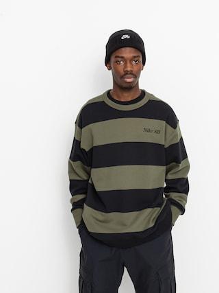 Nike SB Stripe Crew Sweatshirt (cargo khaki/black/black)
