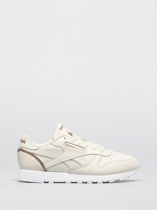 Reebok Cl Lthr Shoes Wmn (chalk/golbro/ftwwht)