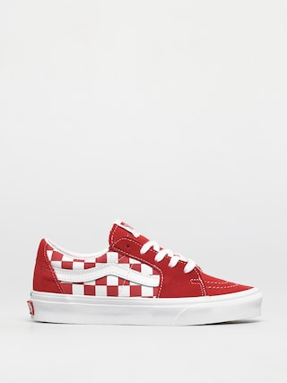Vans Sk8 Low Shoes (canvas/suede racing red/checkerboard)