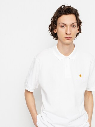 Carhartt WIP Chase Pique Polo t-shirt (white/gold)