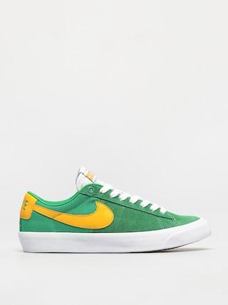 Nike SB Zoom Blazer Low Pro Gt Shoes (lucky green/university gold black white)