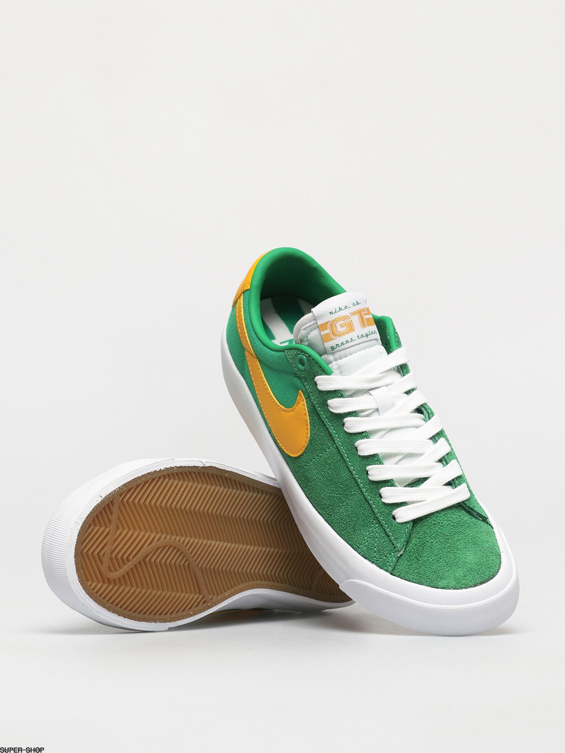 Nike SB Zoom Blazer Low Pro Gt Shoes (lucky green/university gold ...