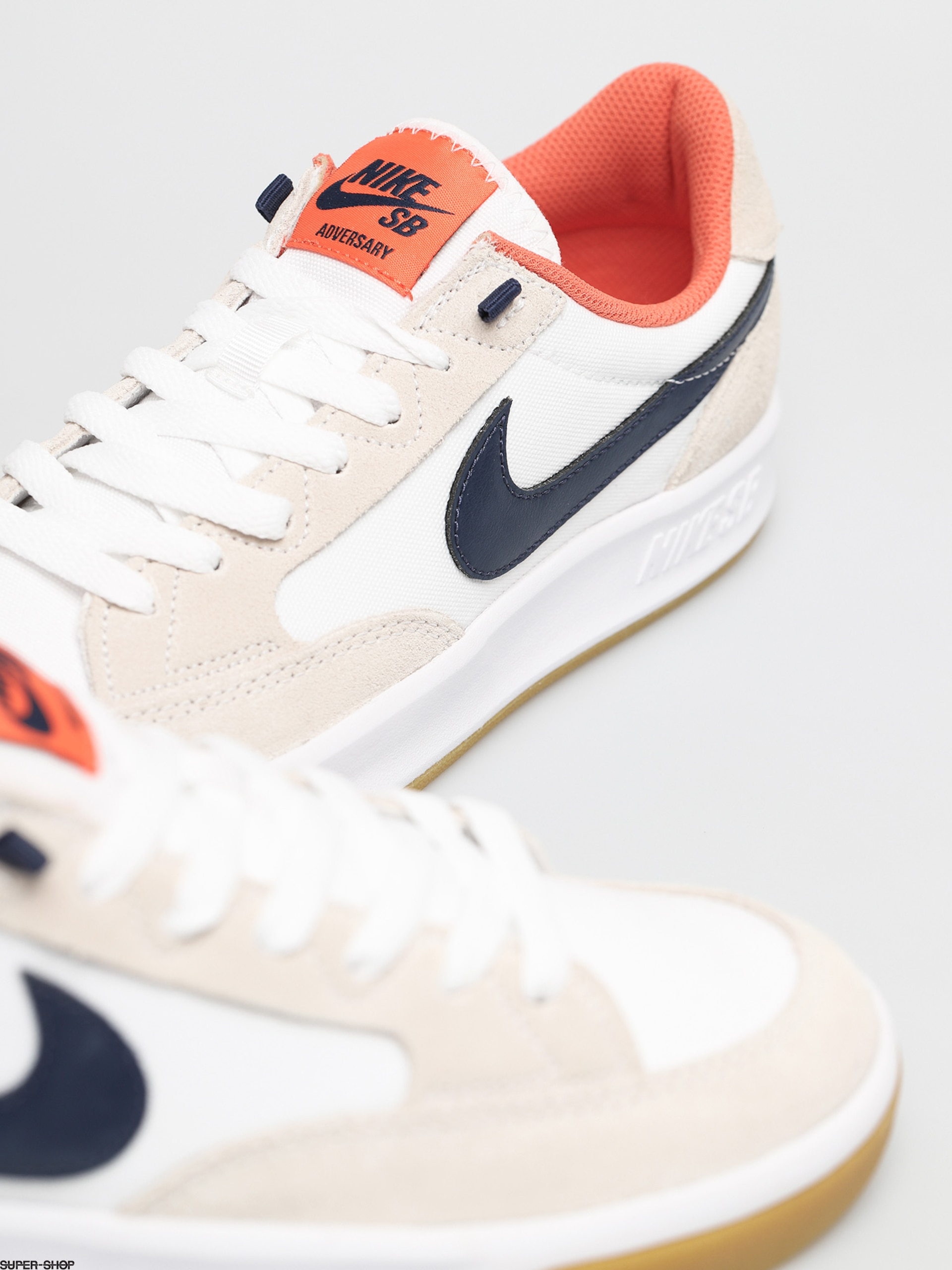 Nike SB Adversary Premium Shoes (white/midnight navy turf orange)