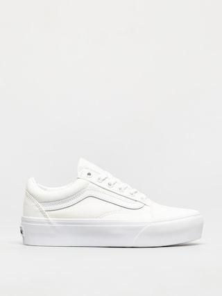 Vans Old Skool Platform Shoes (true white)
