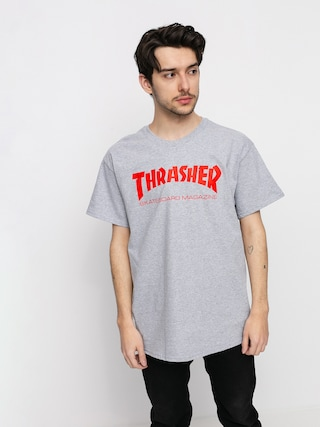 Thrasher T-shirt Skate Mag (grey/red)