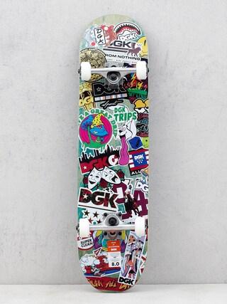 DGK Stix Skateboard (green/multi)