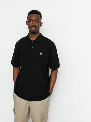 Carhartt WIP Chase Pique Polo t-shirt (black/gold)