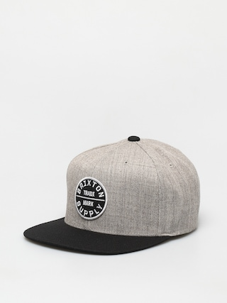 Brixton Oath III Snapback Cap (light heather grey/black)