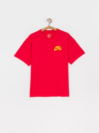 Nike SB Left Chest Script T-shirt (lt fusion red/university gold)