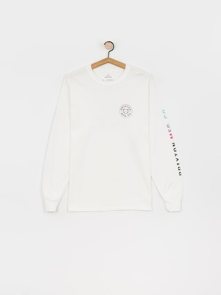 Brixton Crest Stt Longsleeve (white/light blue/pink)