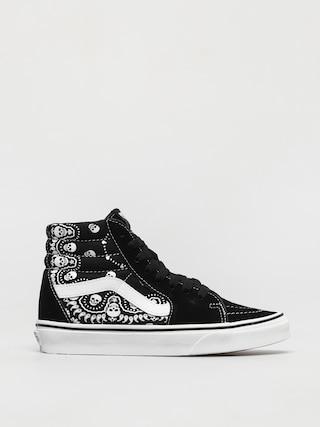 Vans Sk8 Hi Shoes (bandana black/true white)
