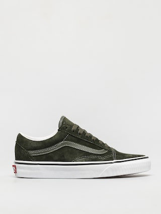 Vans Old Skool Shoes (pig suede olive/true white)