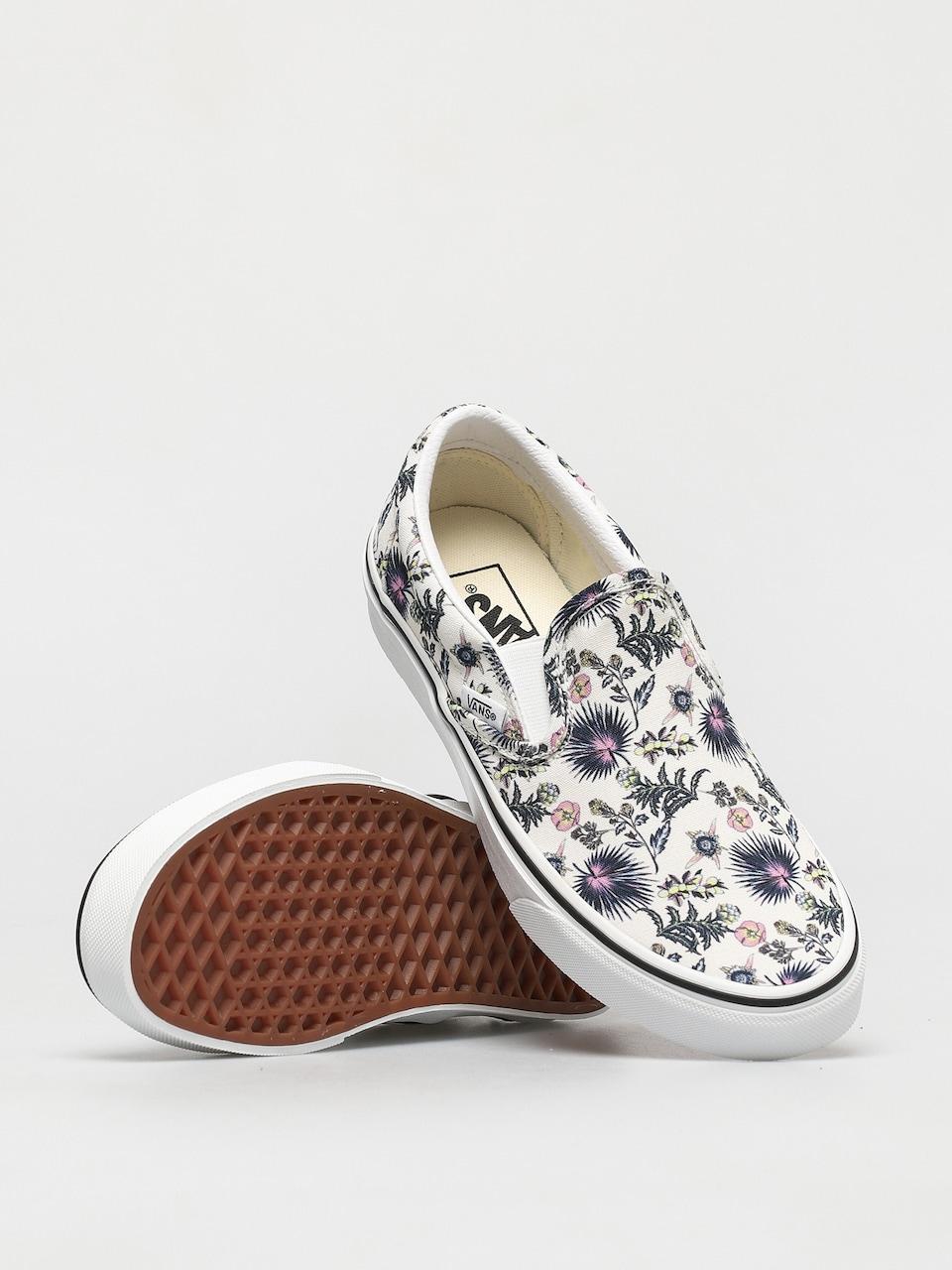 Vans Classic Slip On Shoes (paradise floral true white/true white)