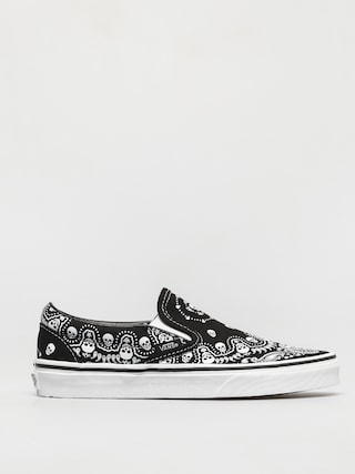 Vans Classic Slip On Shoes (bandana black/true white)