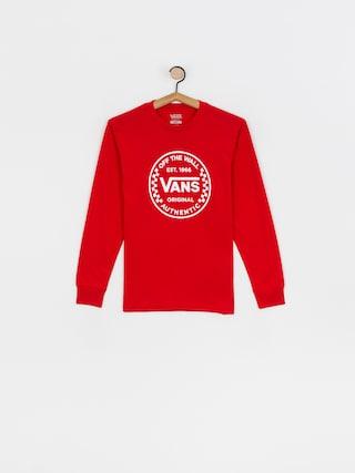 Vans Authentic Checker Longsleeve (high risk red)